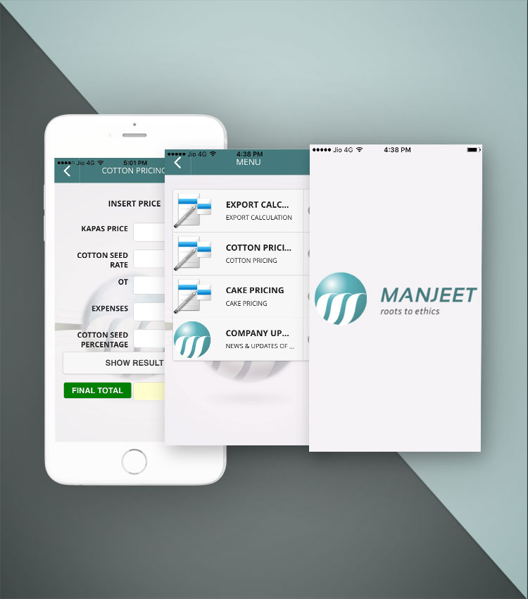 Manjeet Cotton's Enterprise Calculator Mobile App