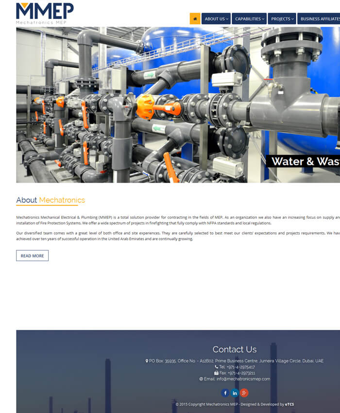 Mechatronics MEP LLC (Dynamic Website)