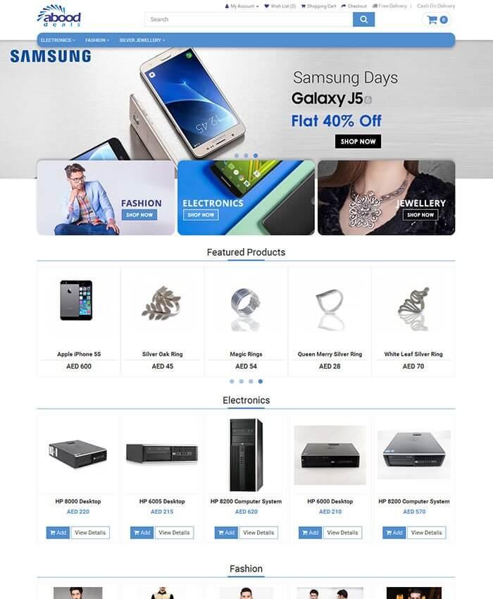 abooddeals (Ecommerce Portal)
