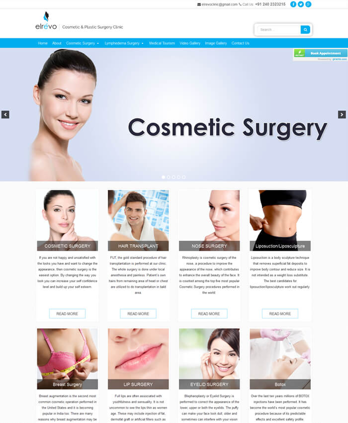 Elrevo Clinic  (Dynamic Website)