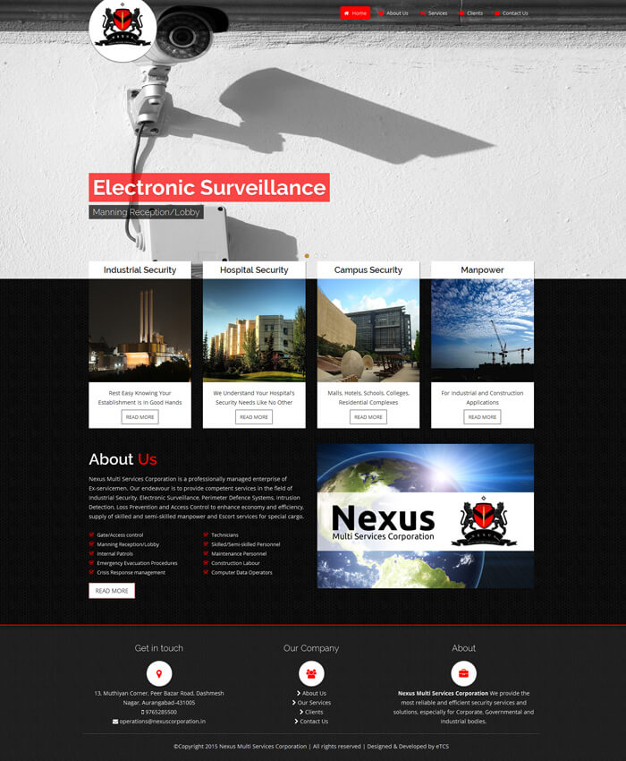 Nexus Corporation (Dynamic Website)