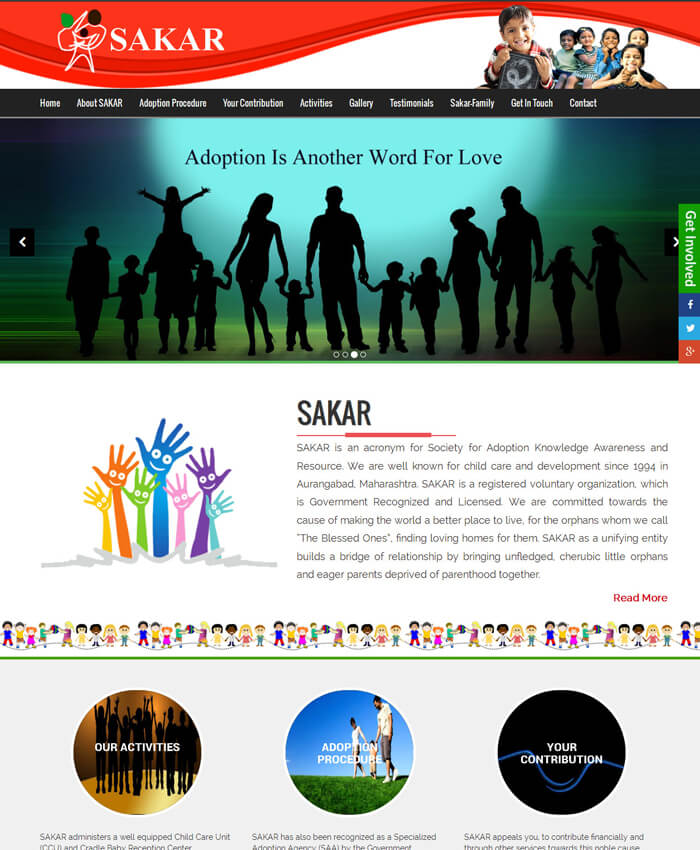SAKAR (Dynamic Website)