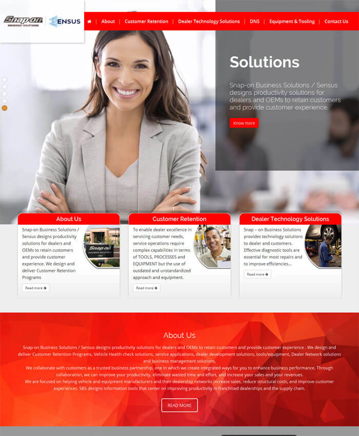Snapon – Sensus UAE (Static Website)