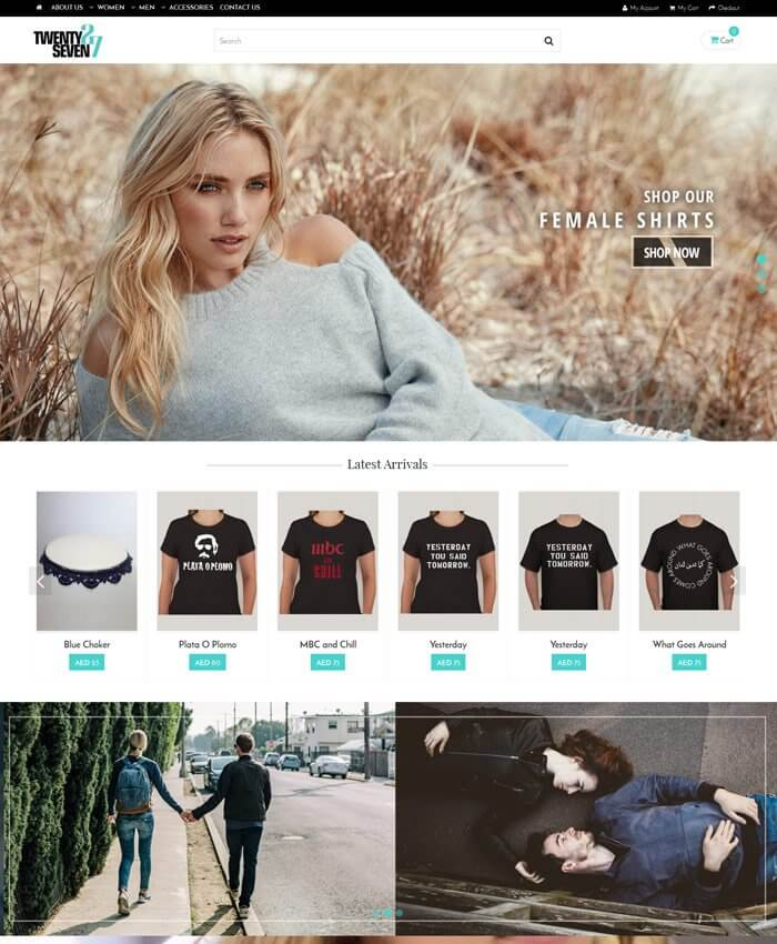 Twnety-7even (Ecommerce Portal)