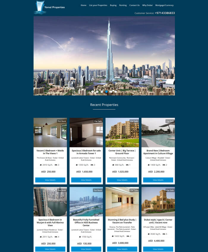 Yamal Properties (Real Estate – Properties Dynamic Portal)