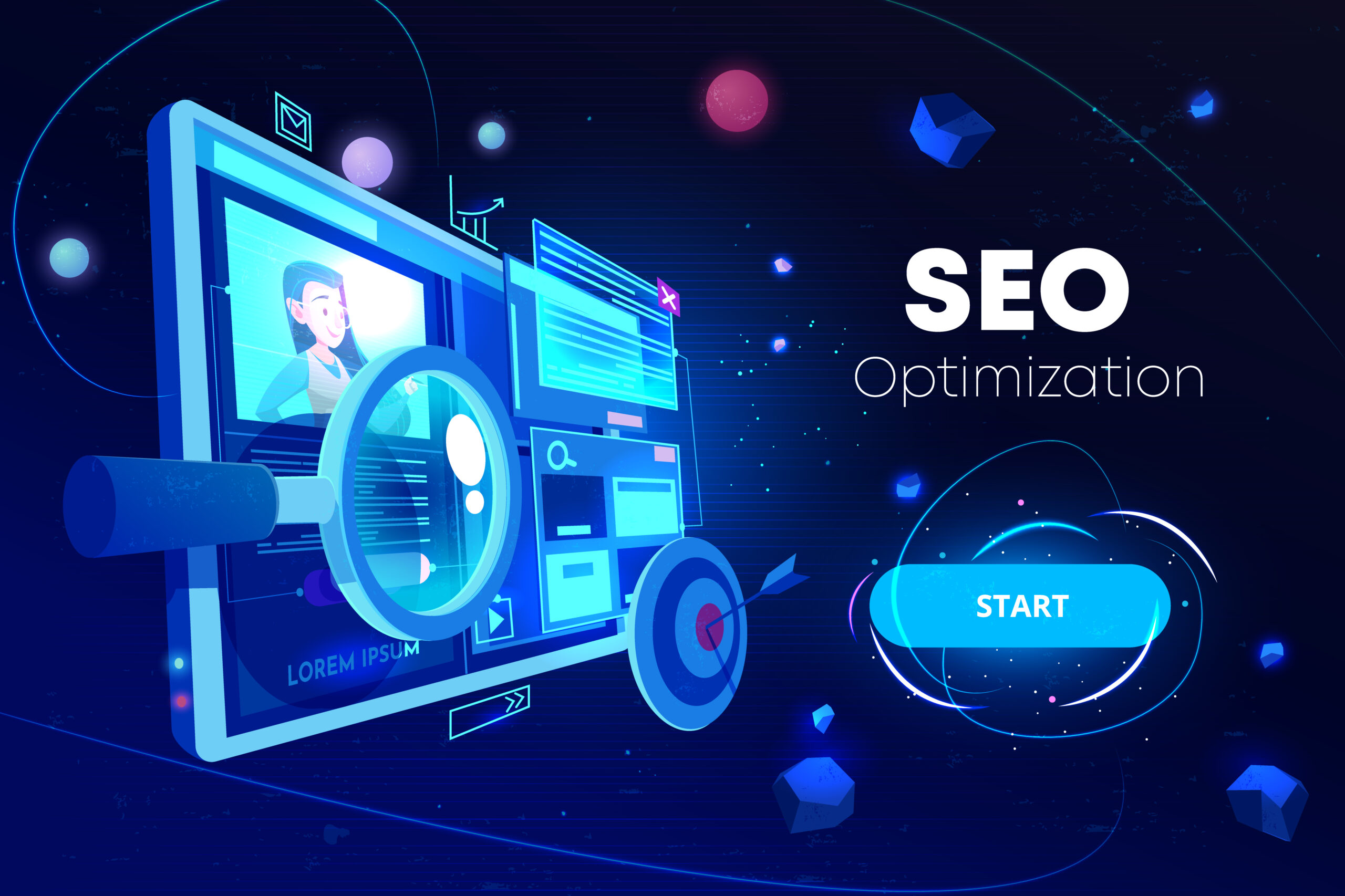 Seo optimization, marketing business technology